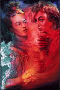 """The Impossible Love of Marilyn and Frida: the Spark"" Artist: Alberto Jorge Carol"